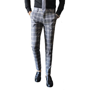"The ""Frederic"" Plaid Slim Fit Suit Pants Trousers - Multiple Colors PYJTRL Official Store"