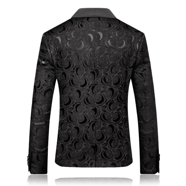 "The ""Antonio"" Slim Fit Blazer Suit Jacket - Black"