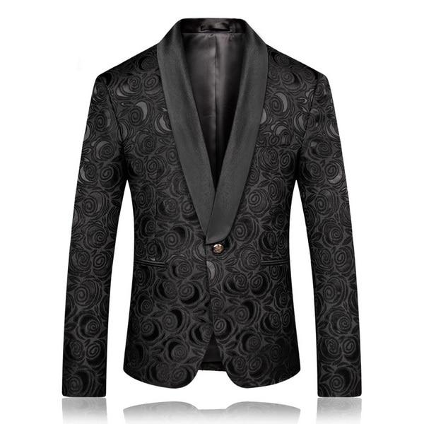 "The ""Antonio"" Slim Fit Blazer Suit Jacket - Black PYJTRL Official Store XS"