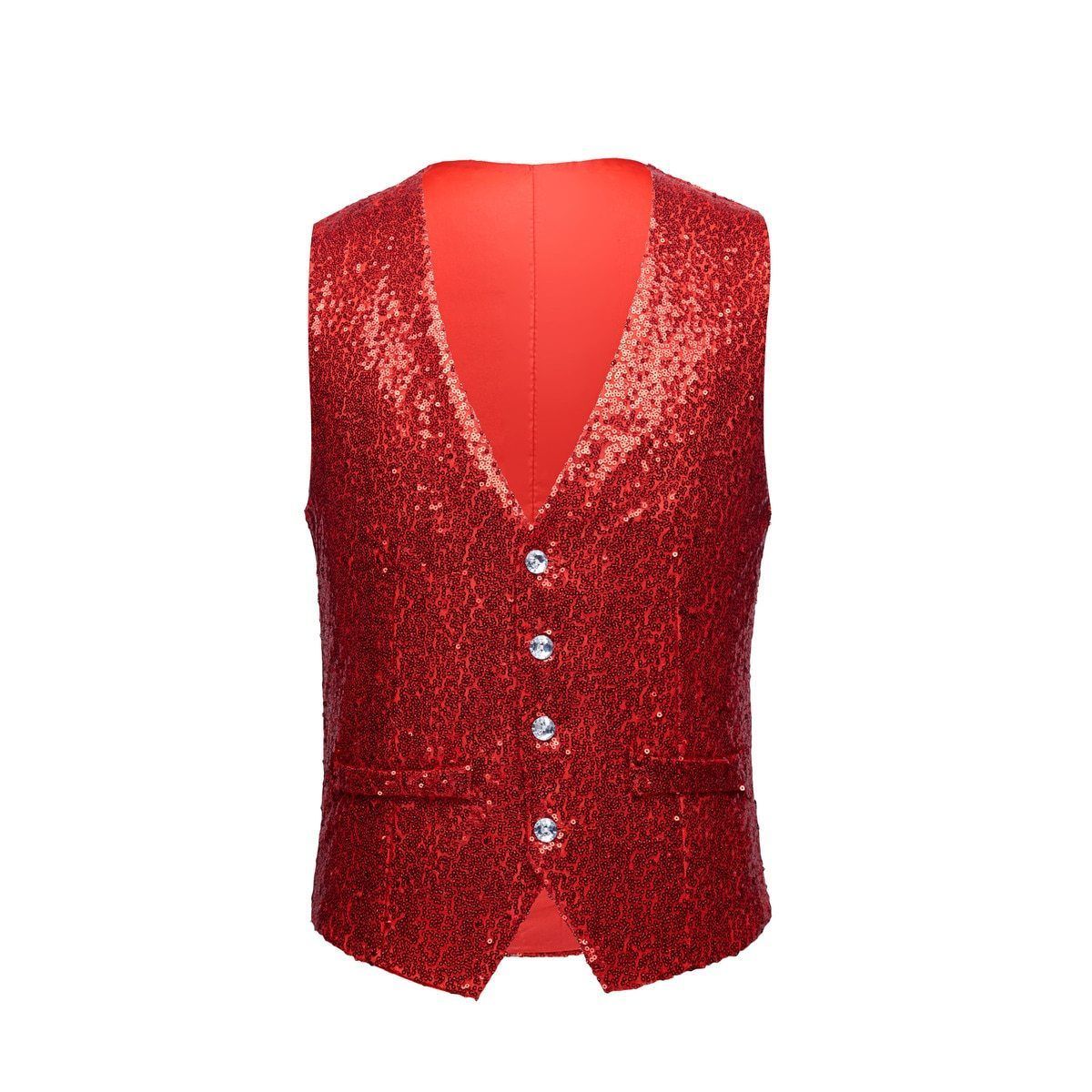 "The ""Crystal"" Sequin Vest - Ruby"