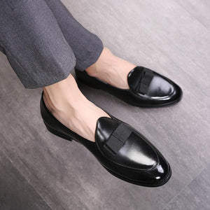 "The ""Angelo"" Leather Penny Loafers - Multiple Colors William // David Black US 5 / EU 37"