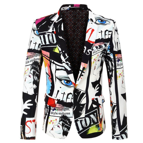"The ""Art Basel"" Slim Fit Blazer Suit Jacket"