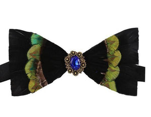 "The ""Marco"" Peacock Feather Bow Tie"