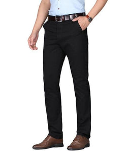 "The ""Lucas"" Modern Fit Suit Pants Trousers - Multiple Colors William // David Black 29"