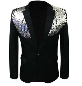 "The ""Angelic"" Blazer Suit Jacket - Jet Black PYJTRL Official Store S"