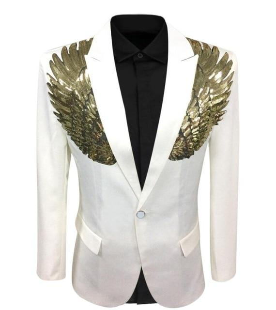 "The ""Angelic"" Blazer Suit Jacket - Pearl White"
