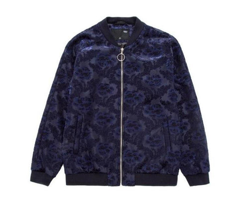 "The ""Paris"" Jacquard Bomber Jacket - Indigo William // David"