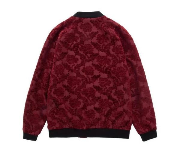 "The ""Paris"" Jacquard Bomber Jacket - Scarlet"
