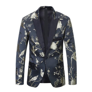 "The ""Lukas"" Slim Fit Blazer Suit Jacket - Gold"