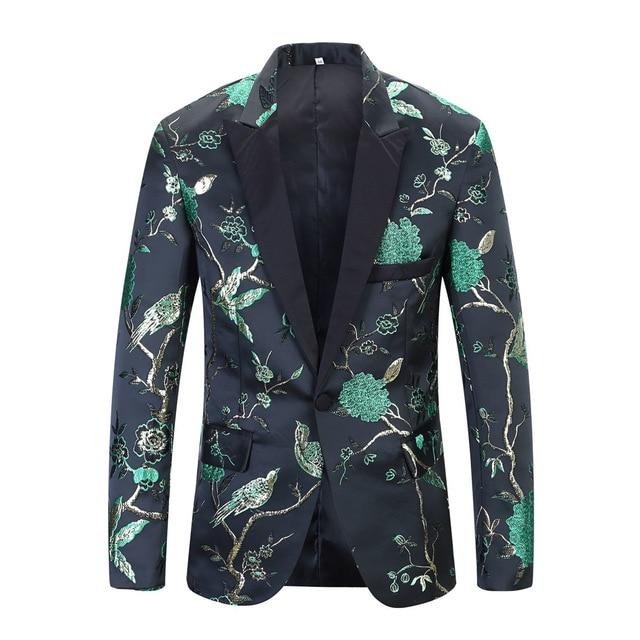 "The ""Lukas"" Slim Fit Blazer Suit Jacket - Emerald William // David XS"