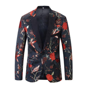 "The ""Lukas"" Slim Fit Blazer Suit Jacket - Rose"
