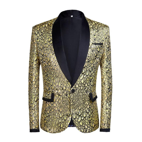 "The ""Riccardo"" Slim Fit Blazer Suit Jacket - Canary Yellow William // David"
