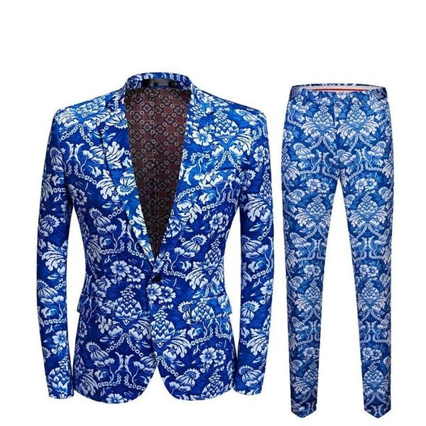 "The ""Cerulean"" Slim Fit Two-Piece Suit"