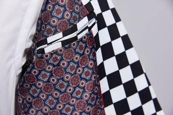 "The ""Micro Check"" Slim Fit Two-Piece Suit William // David"