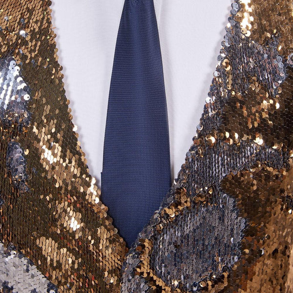 "The ""Manifesto"" Sequin Vest - Gold"