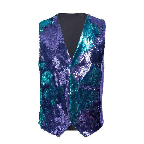 "The ""Manifesto"" Sequin Vest - Plum William // David XS"