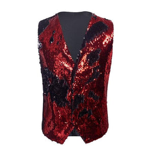 "The ""Manifesto"" Sequin Vest - Crimson William // David XS"