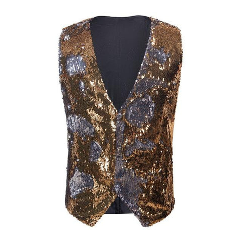 "The ""Manifesto"" Sequin Vest - Gold William // David XS"