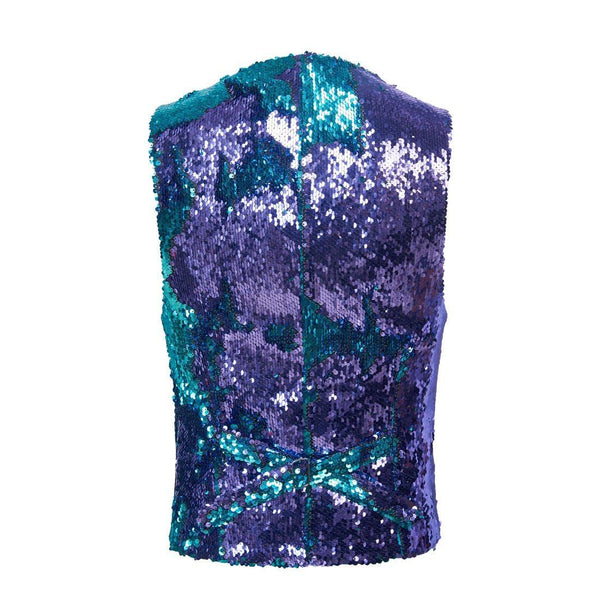 "The ""Manifesto"" Sequin Vest - Plum William // David"