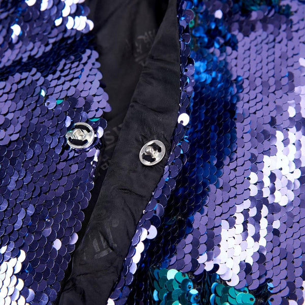 "The ""Manifesto"" Sequin Vest - Plum"