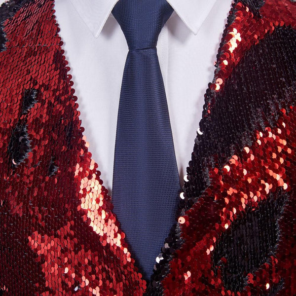 "The ""Manifesto"" Sequin Vest - Crimson William // David"
