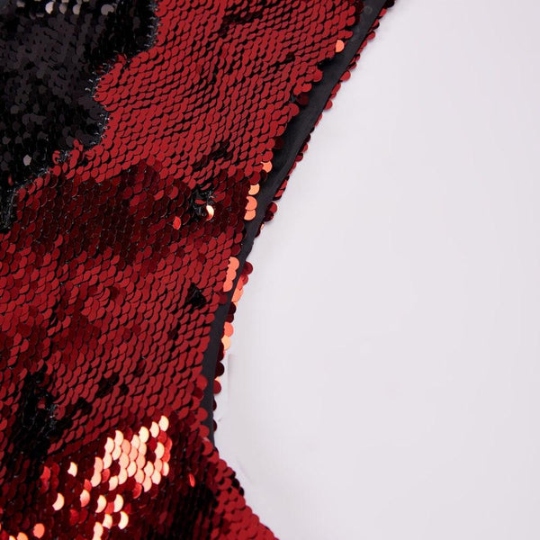"The ""Manifesto"" Sequin Vest - Crimson"