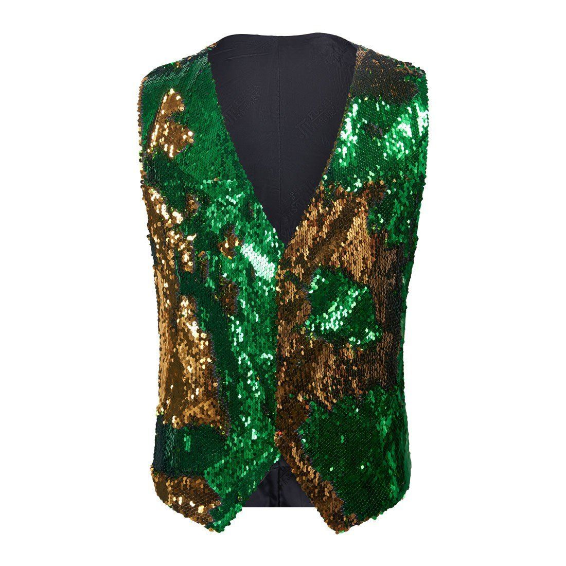 "The ""Manifesto"" Sequin Vest - Emerald"