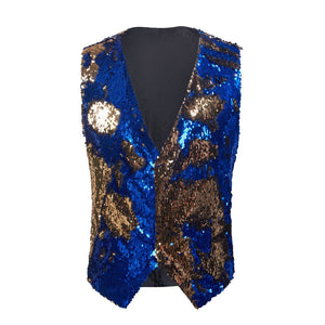 "The ""Manifesto"" Sequin Vest - Royal"