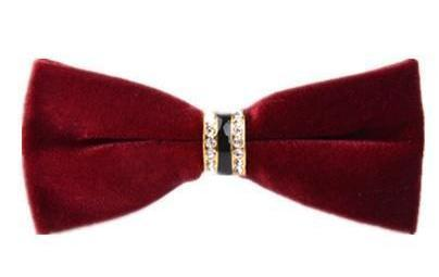"The ""Dante"" Velvet Bow Tie - Multiple Colors william-david Burgandy"