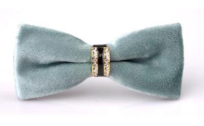 "The ""Dante"" Velvet Bow Tie - Multiple Colors william-david Light Green"