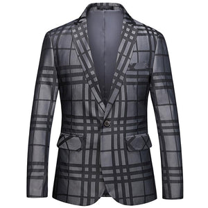 "The ""Frederic"" Plaid Slim Fit Blazer Suit Jacket William // David"