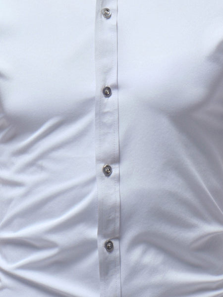 "The ""Caesar"" Mandarin Collar Short Sleeve Shirt -  Multiple Colors"