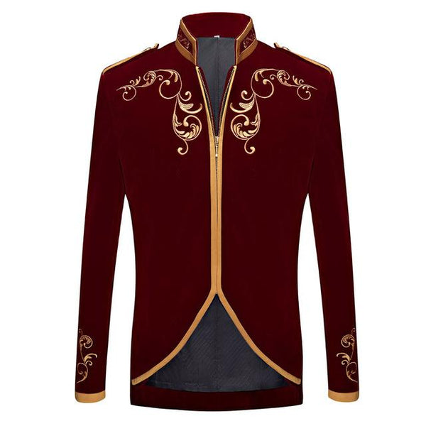 "The ""Imperial"" Velvet Mandarin Collar Jacket - Multiple Colors"