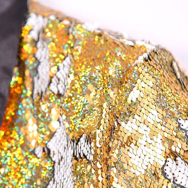 "The ""Tristan"" Sequin Slim Fit Blazer Suit Jacket - Gold William // David"