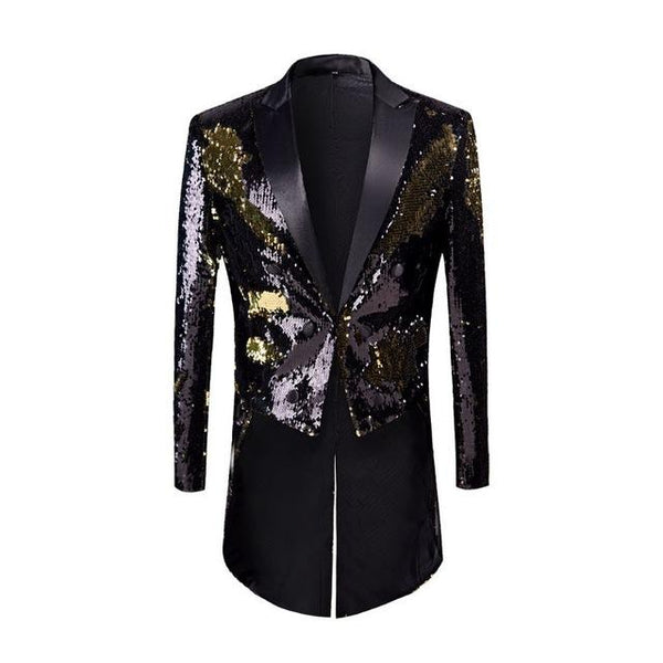 "The ""Manifesto"" Sequin Long-Tail Suit Jacket William // David XS"