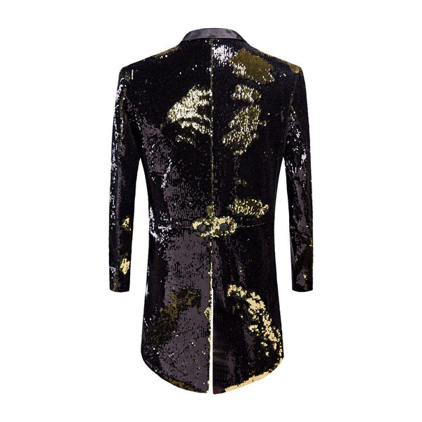 "The ""Manifesto"" Sequin Long-Tail Suit Jacket William // David"