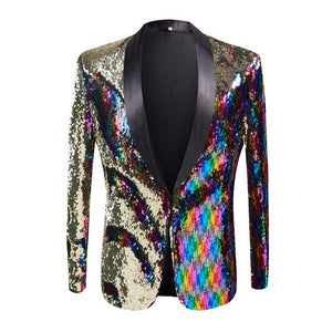 "The ""Pierre"" Sequin Slim Fit Blazer Suit Jacket William // David XS"