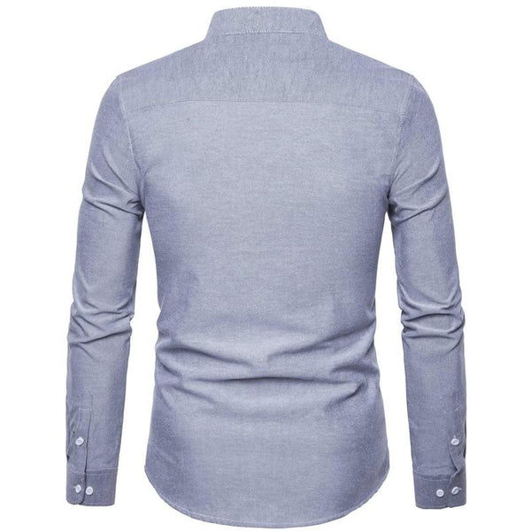 "The ""Ontario"" Mandarin Collar Long Sleeve Shirt - Multiple Colors"
