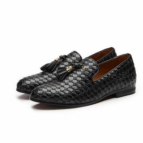 "The ""Kingston"" Leather Tassel Loafers - Multiple Colors YIGER'S Store Black EU 40.5 / US 7.5"