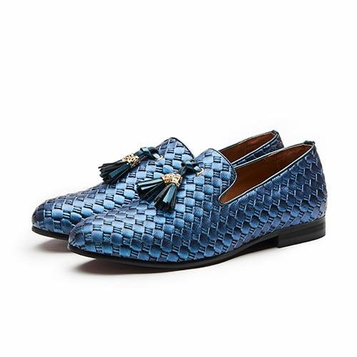 "The ""Kingston"" Leather Tassel Loafers - Multiple Colors YIGER'S Store Blue EU 40.5 / US 7.5"