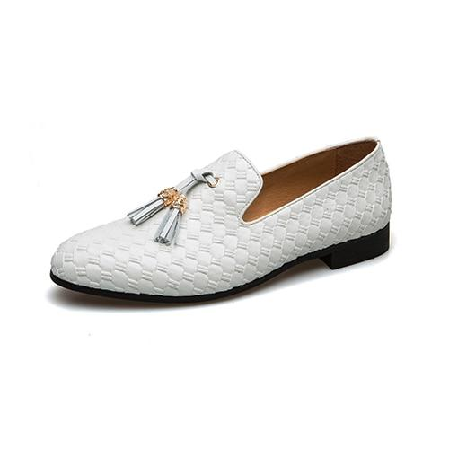"The ""Kingston"" Leather Tassel Loafers - Multiple Colors YIGER'S Store White EU 39.5 / US 6.5"