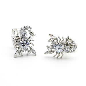 "The ""Scorpio"" Luxury Cuff Links - Silver William // David"