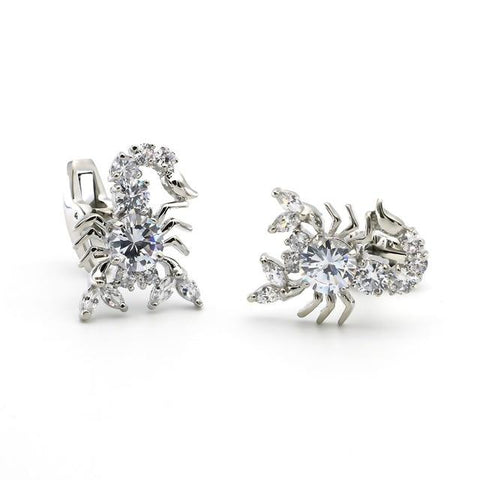 "The ""Scorpio"" Luxury Cuff Links - Silver"