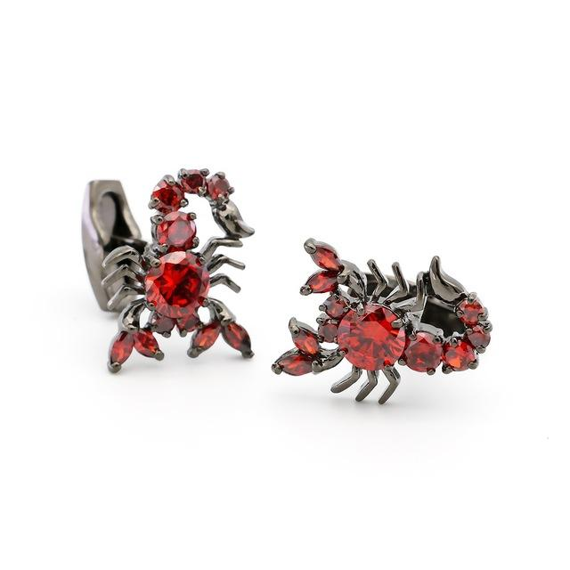 "The ""Scorpio"" Luxury Cuff Links - Ruby"