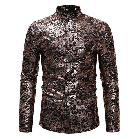 "The ""Florian"" Mandarin Collar Long Sleeve Shirt - Multiple Colors Hipster 3D Wardrobe Store Black S"
