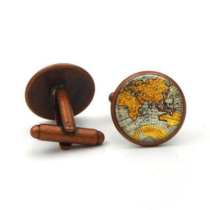 "The ""Explorer"" Luxury Cuff Links - Multiple Colors William // David Copper"