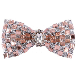 "The ""Mikel"" Crystal Bow Tie - Coral"