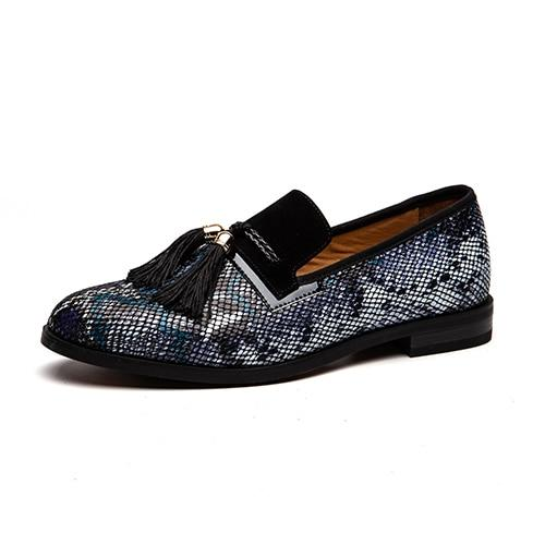 "The ""Pierre"" Snakeskin Tassel Loafers - Multiple Colors William // David Blue EU 45.5 / US 12.5"