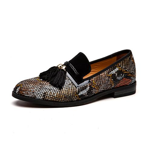 "The ""Pierre"" Snakeskin Tassel Loafers - Multiple Colors William // David Brown EU 44.5 / US 11.5"