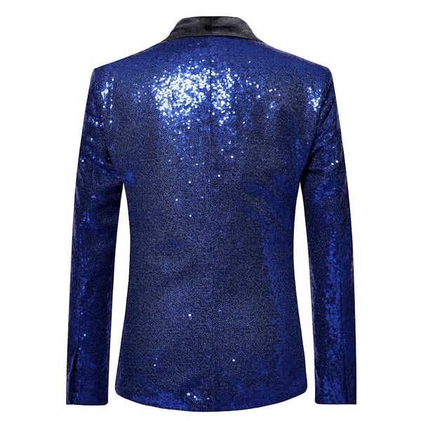 "The ""Crystal"" Slim Fit Blazer Suit Jacket - Sapphire Blue PARKLEES Official Store"